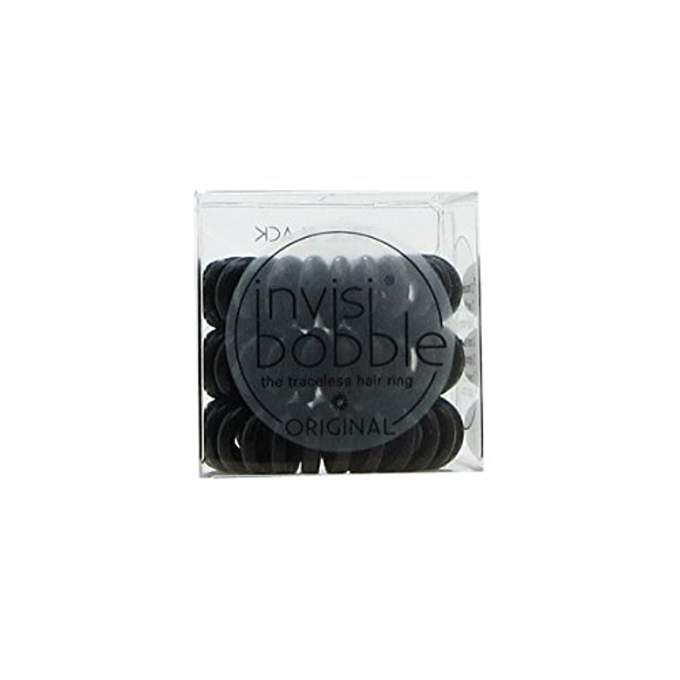 四分円不忠木製Invisibobble Original Hair Ring True Black [並行輸入品]