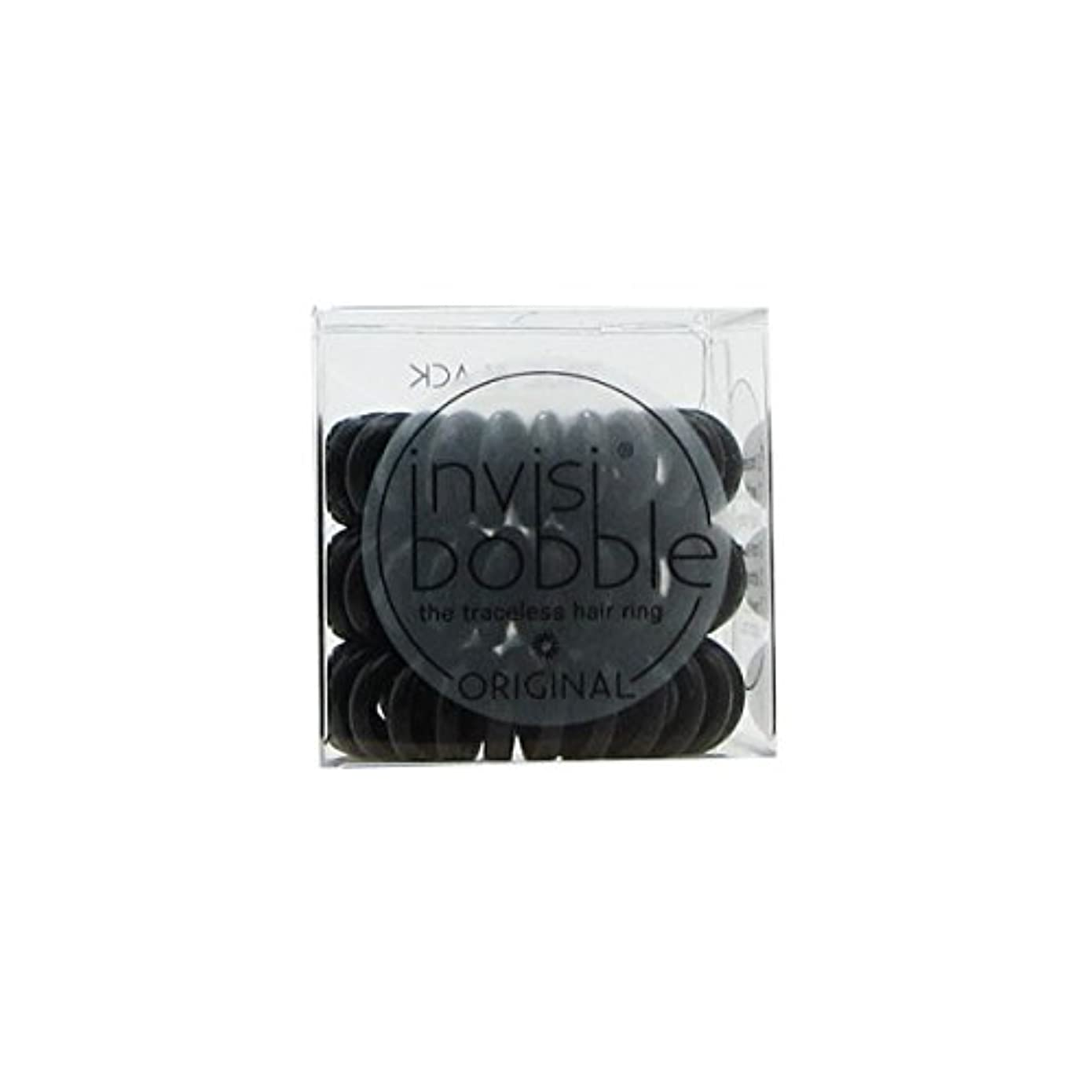 ミサイル雄弁家日付Invisibobble Original Hair Ring True Black [並行輸入品]