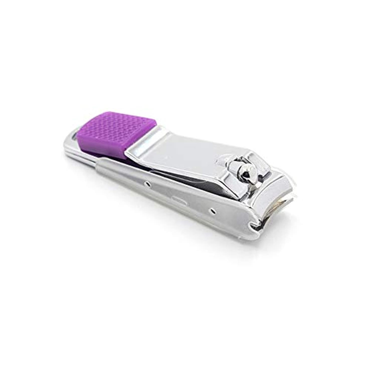 割れ目バスルーム麻酔薬ステンレス鋼製爪切り飛び散り防止爪切り男女兼用 爪切り、ランダムな色
