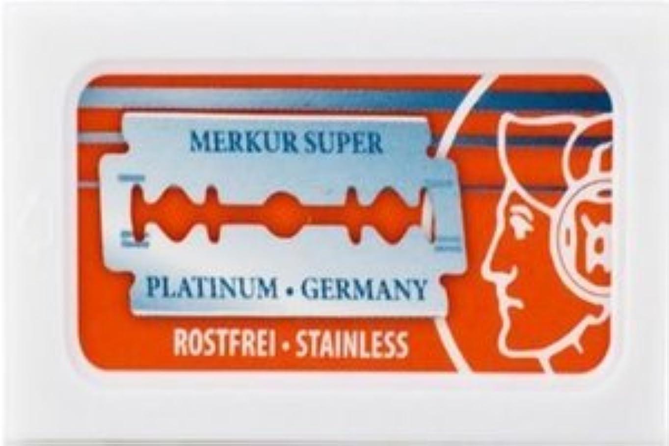 想像力豊かな矢社交的Merkur Super Platinum 両刃替刃 10枚入り(10枚入り1 個セット)【並行輸入品】