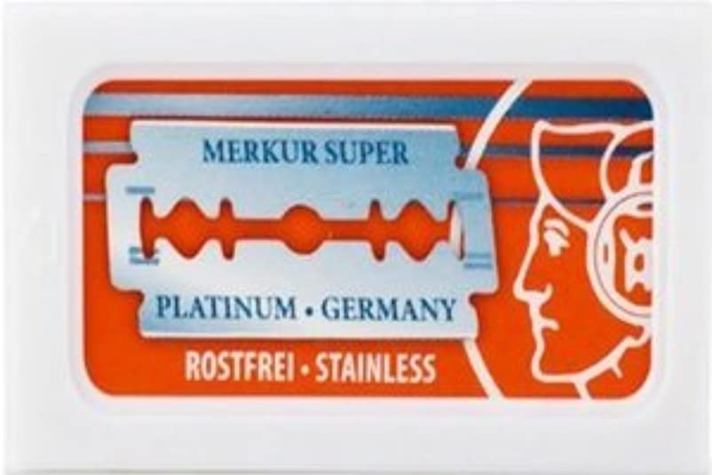副産物製造業管理Merkur Super Platinum 両刃替刃 10枚入り(10枚入り1 個セット)【並行輸入品】