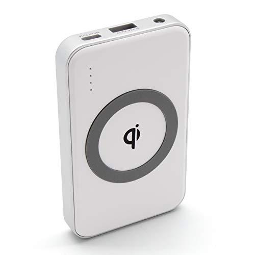 ワイヤレス モバイルバッテリー cheero Energy Plus mini 4400mAh Wireless 薄型 軽量 Qi対応 iPhone&Android対応 Auto-IC機能搭載 PSEマーク付 Qi認定商品 3台同時充電可能 (ホワイト) CHE-105
