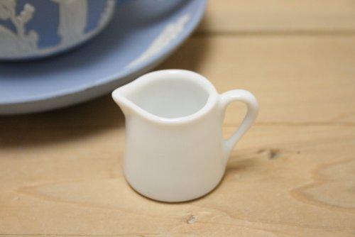 製造・直売! ミルクピッチャー 陶器 1人用 クリーマー 業務用 純白 ピッチャー ACSWEBSHOPオリジナル