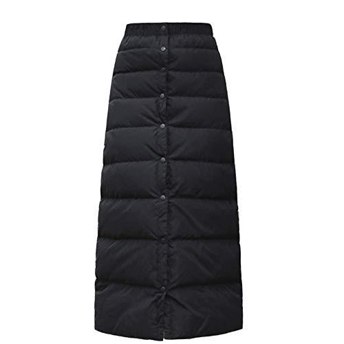 [YOUHA]防寒 巻きスカート中綿キルト キルティング スカート レディース あったか 大きいサイズ 裏起毛 ラップスカート軽い (ブラック, M)