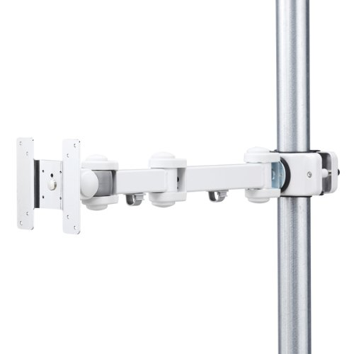 サンワサプライ 支柱取付け液晶モニタアーム 75×75/100×100mm 2箇所 CR-LA354