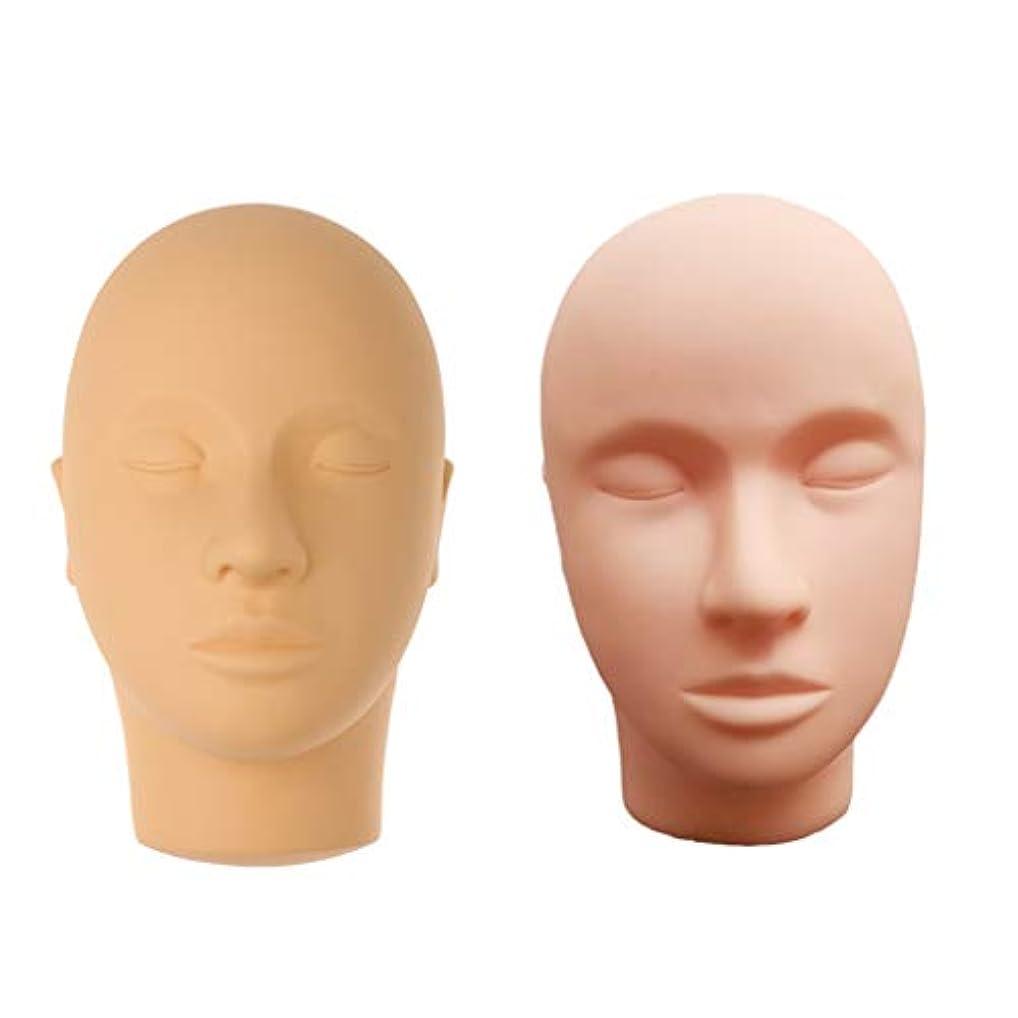 定期的なヘッジ区別するマネキンヘッド 肌色 シリコーン 練習 メイクアップ まつげ エクステ マッサージ練習