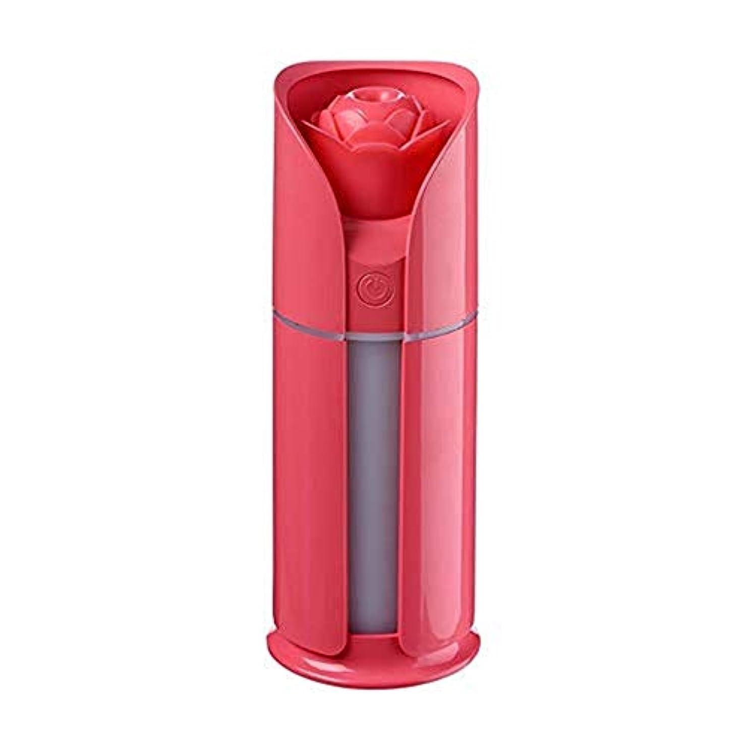 幻影祝福する競合他社選手KAKACITY 調節可能な散水なしの自動シャットダウンを備えた新鮮なミスト130 MLの加湿器 (色 : レッド)
