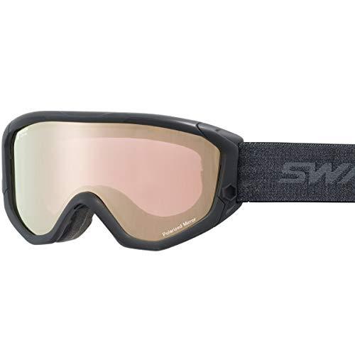 【国産ブランド】SWANS(スワンズ) スキー スノーボード ゴーグル くもり止め プレミアムアンチフォグ搭載 ミラー 偏光 スキー スノーボード 634-MPDH-PAF MBKF