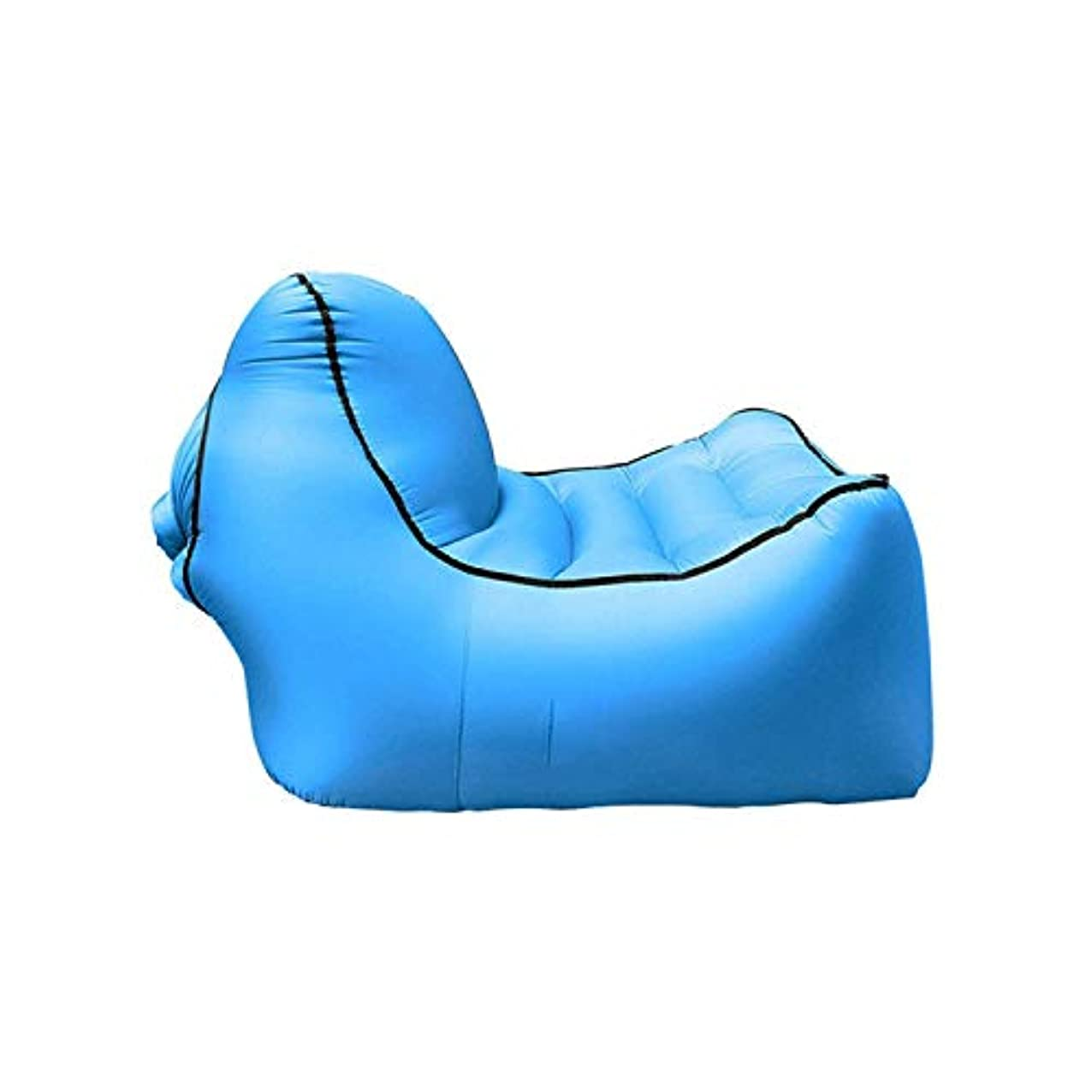 付ける変動する教育者膨脹可能な空気椅子のラウンジャーはポンプを必要としなかった10秒で膨脹させる携帯用軽量の非常に耐久の祝祭浜屋外の防水プールで完成しなさい (色 : 青)
