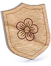 ゼラニウムラペルピン、木製ピンとタイタック|素朴な、ミニマルGroomsmenギフト、ウェディングアクセサリー