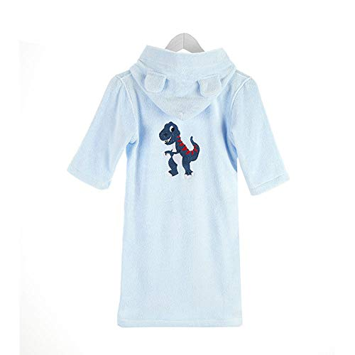 コットンユニセックス子供用バスローブ、恐竜刺繍、幼児の泳ぎ、...