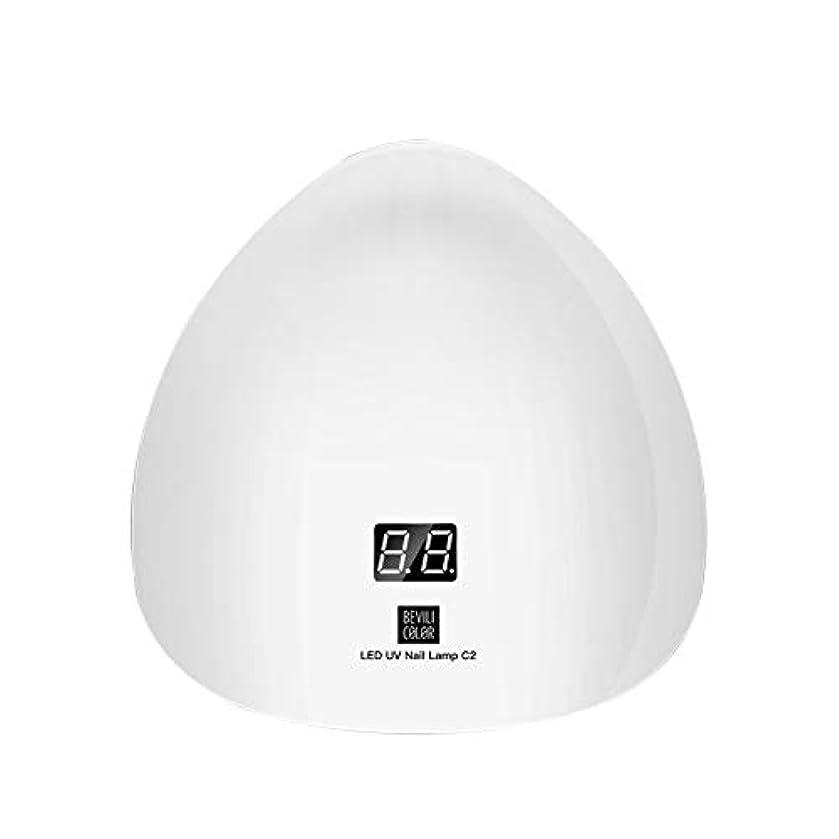 人口消化器熱LITI LEDネイルドライヤー UVライト 45W ハイパワー 15LED 高速硬化 自動センサー UVとLEDダブルライト