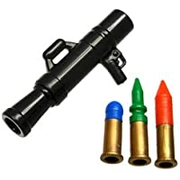レゴブロック カスタム パーツ ロケットランチャー MAAWS 3色弾頭付き:[Black / ブラック] 【並行輸入品】