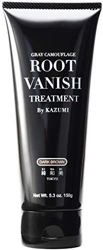 Root Vanish 白髪染め ヘアカラートリートメント|ダークブラウン (髪と頭皮に優しい白髪染め・22種類の植物エキス配合)