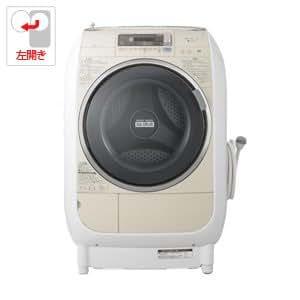 日立 9.0kg ドラム式洗濯乾燥機【左開き】ライトベージュHITACHI ヒートリサイクル 風アイロン ビッグドラム BD-V3500L-C