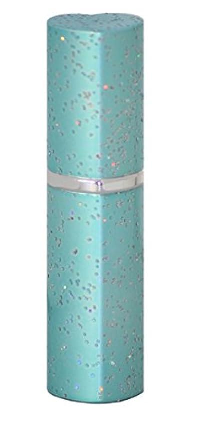主張スーパー曲線アトマイザー ラメハート ブルー 3ml 香水入れ
