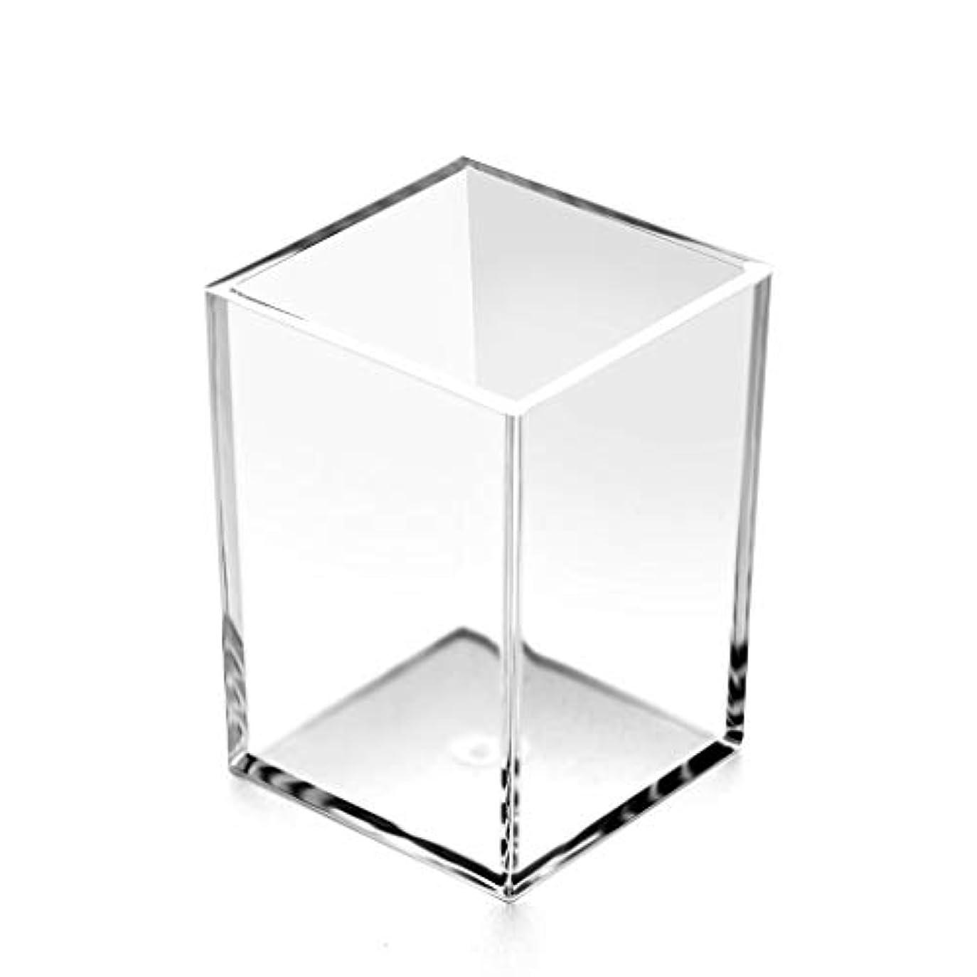 結晶三角形訴えるRiLiKu アクリルペン立て 鉛筆ホルダー 透明 卓上文房具収納ボックス メイクブラシ収納ボックス