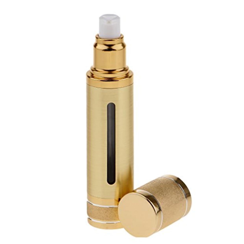 地震説得動的Kesoto エアレスボトル 50ml エアレス ポンプボトル ローション クリーム 化粧品 詰め替え可 容器 2色選べる - ゴールド