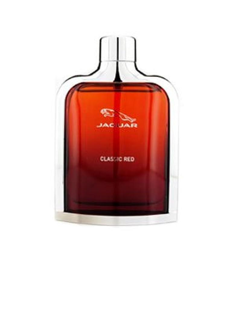 トレード流出長方形Jaguar Classic Red (ジャガー クラシック レッド) 3.4 oz (100ml) EDT Spray for Men