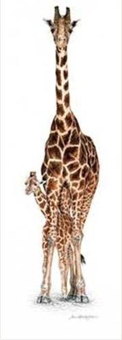 Undercover by Jan Henderson 36x 12アートプリントポスター壁装飾Giraffe and Baby Giraffe Cute Animals Exclusive