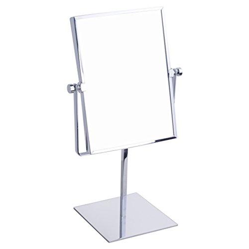 (イニシエ・ウルウ)GURUN 化粧 ミラー 3倍 拡大 鏡 卓上 ミラー スタンド 女優鏡 メイク 真鍮 8インチ 両面 シルバー 1年間保証 ギフト JP2253-9.6*6*3
