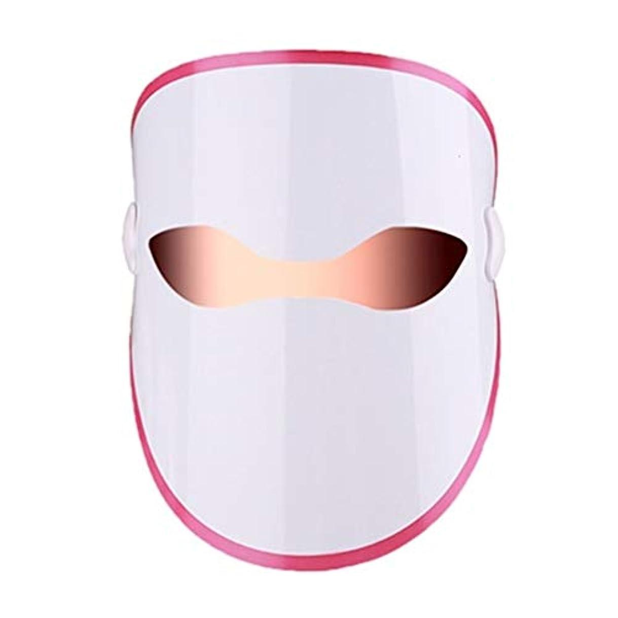 略語ペパーミントシールド光療法フェイスマスク、3色光治療にきびスポットしわそばかす除去顔の美白肌の若返りアンチエイジング毎日美容スキンケアマスク