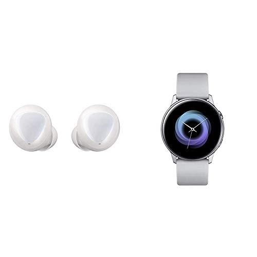 Galaxy Buds ホワイト [Galaxy純正 国内正規品] SM-R17010W19JP & スマートウォッチ Galaxy Watch Active シルバー [Galaxy純正 国内正規品] SM-R500NZSAXJP