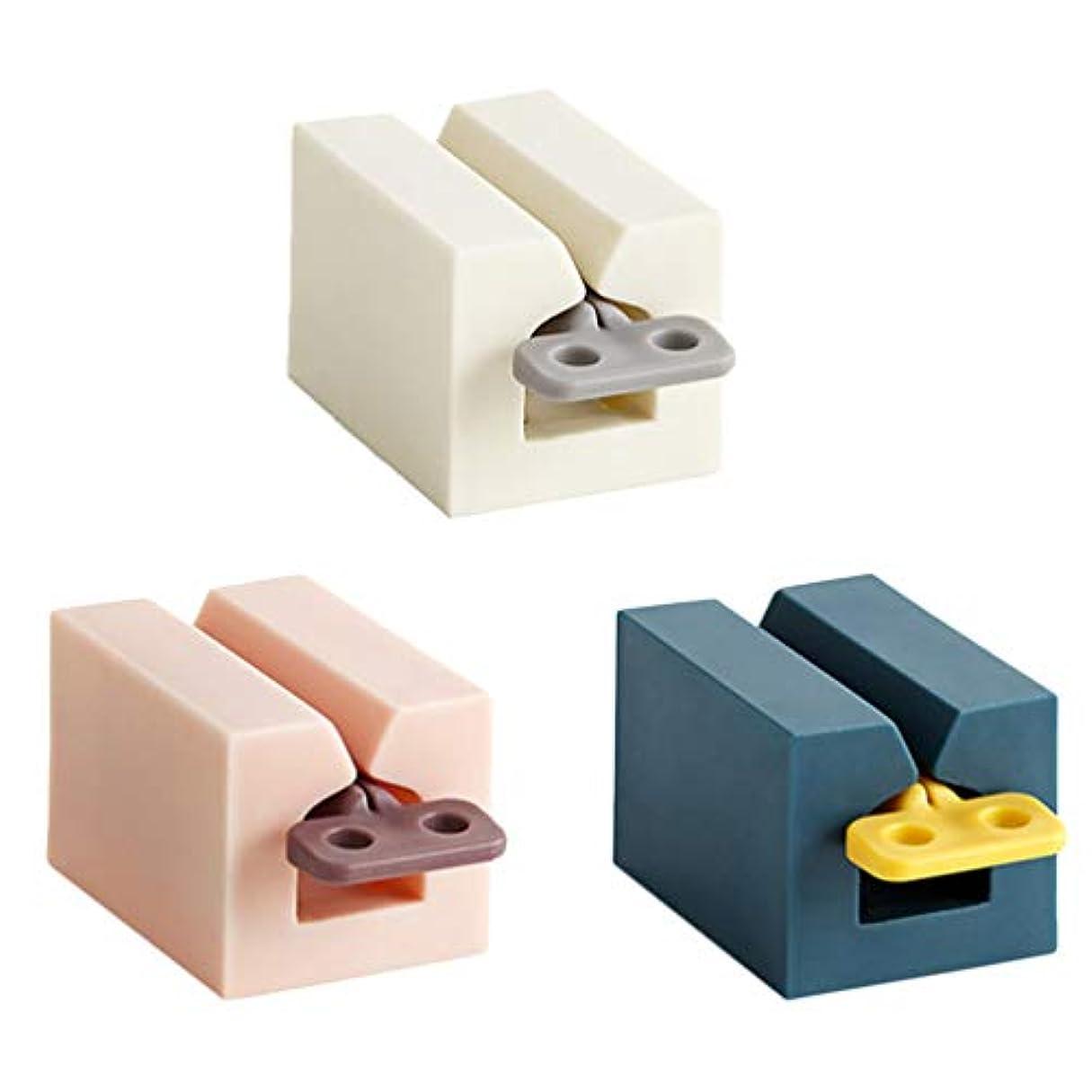 場合リボン地質学Yardwe 3本の歯磨き粉スクイーザ歯磨き粉ローリングホルダー歯磨き粉チューブローラースタンド用ホーム