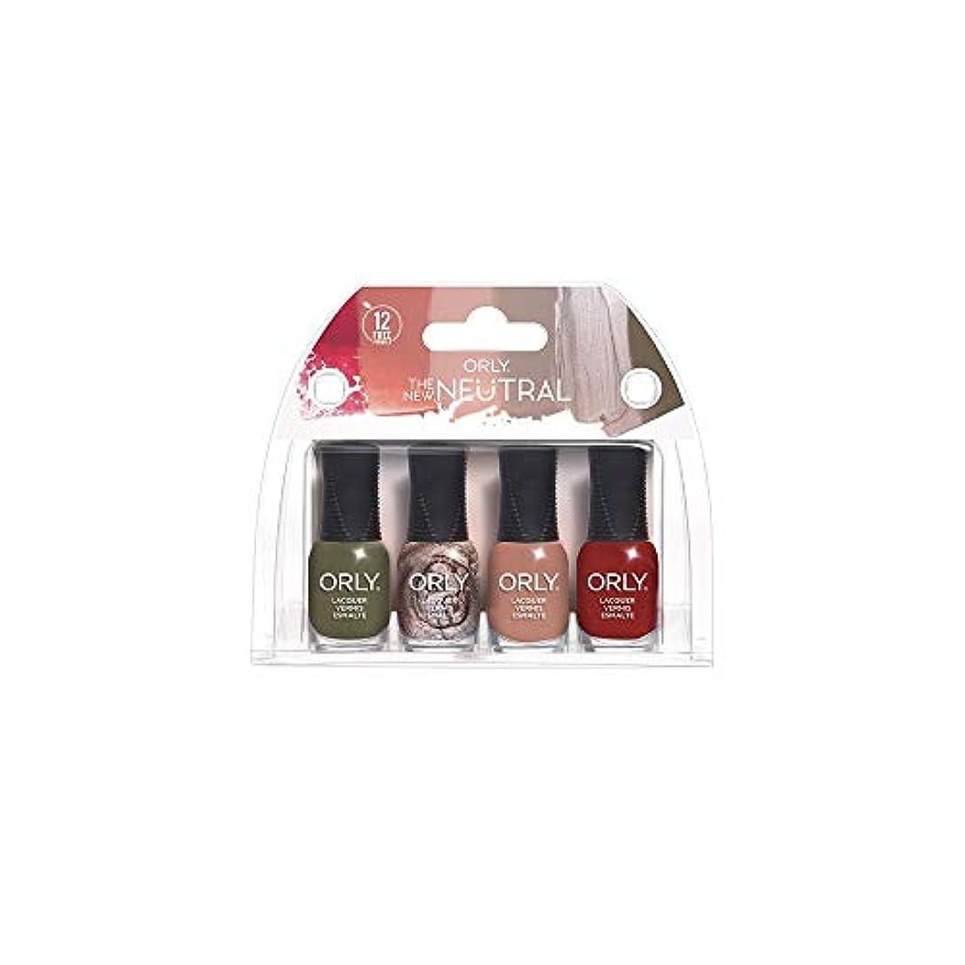 厚い穏やかなマリンORLY Lacquer - The New Neutral Collection - 4 Pack Mini - 5.3 ml / .18 oz Each