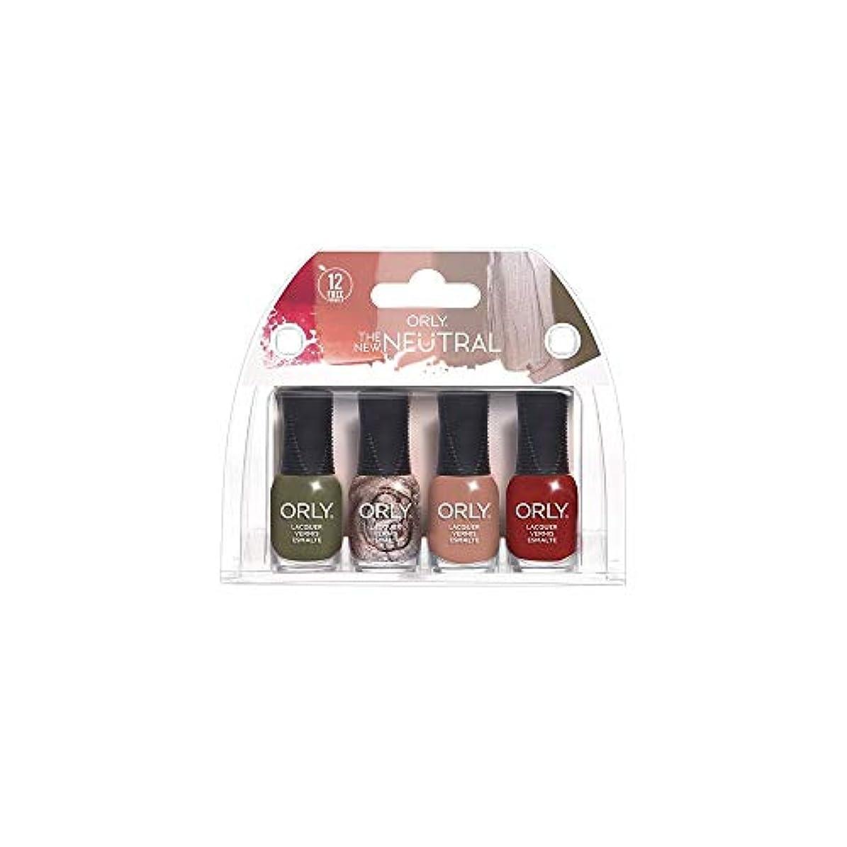 感嘆木曜日同種のORLY Lacquer - The New Neutral Collection - 4 Pack Mini - 5.3 ml / .18 oz Each
