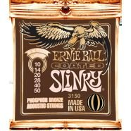 ERNIE BALL Coated Slinky Phosphor Bronze Acoustic Strings 3150 EXTRA LIGHT (10-50)