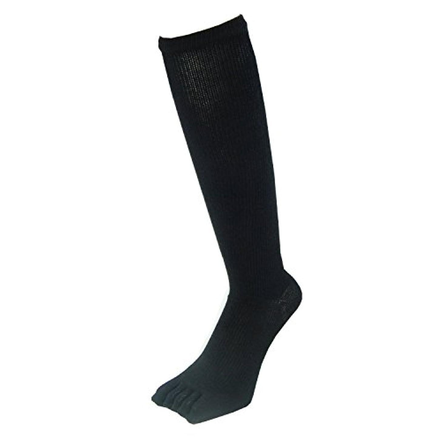 匹敵します淡いもう一度PAX-ASIAN 紳士?メンズ 五本指ハイソックス 着圧靴下 ムクミ解消 抗菌防臭 サポート 黒色?ブラック 3足組 #801