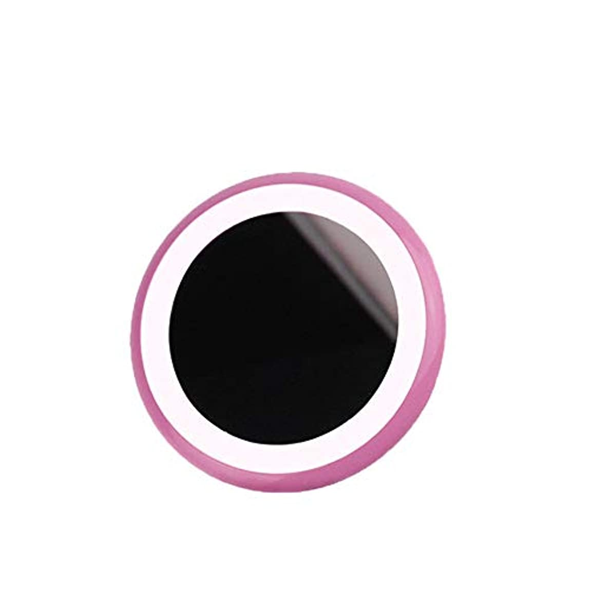 傷跡冗長兄弟愛流行の LEDライトメイクアップミラー新しい携帯充電宝物入れミラー美容ミラーABS素材2ピンクブルーセクション