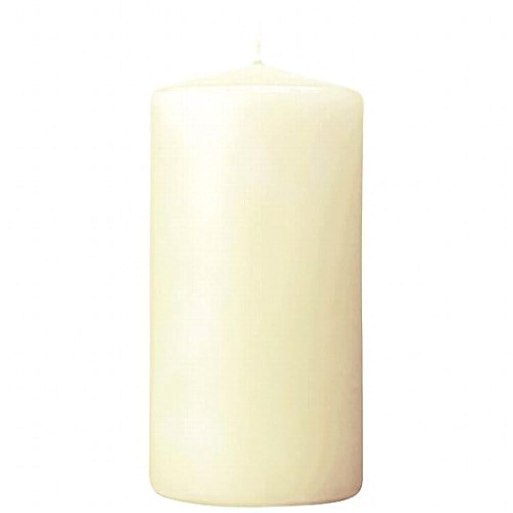 リファイン軽く教えカメヤマキャンドル(kameyama candle) 3×6ベルトップピラーキャンドル 「 アイボリー 」