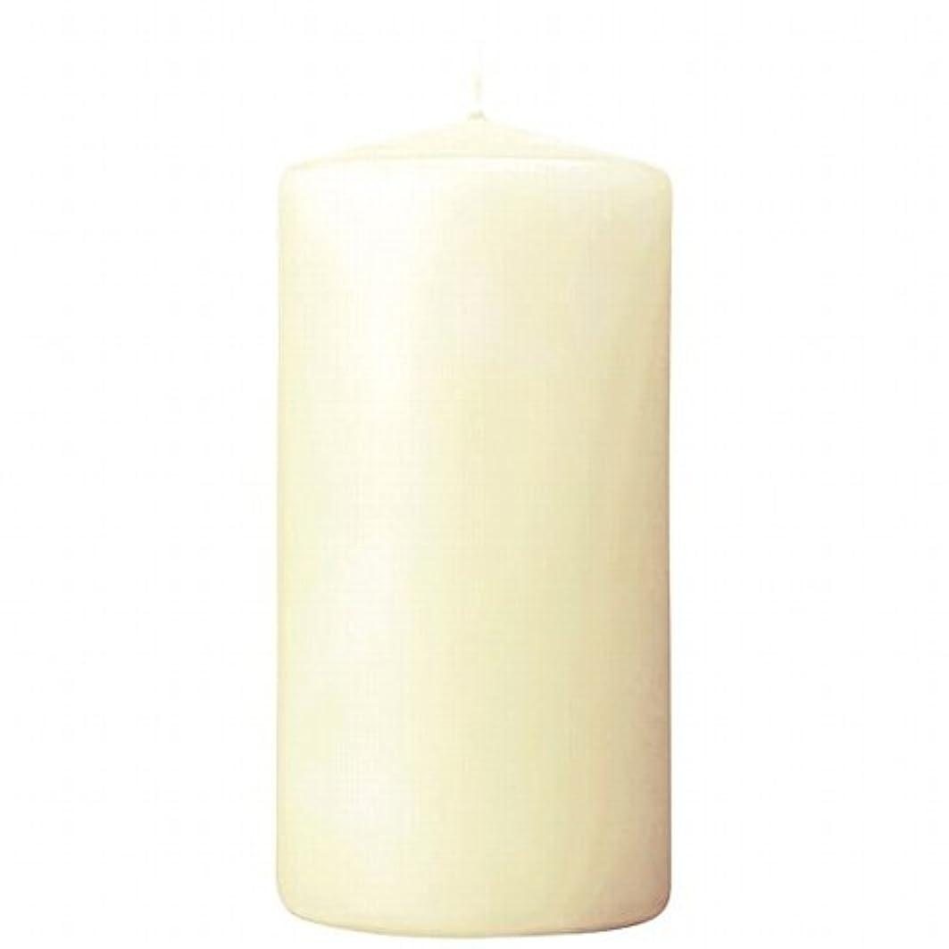 リスキーな画家機会カメヤマキャンドル(kameyama candle) 3×6ベルトップピラーキャンドル 「 アイボリー 」