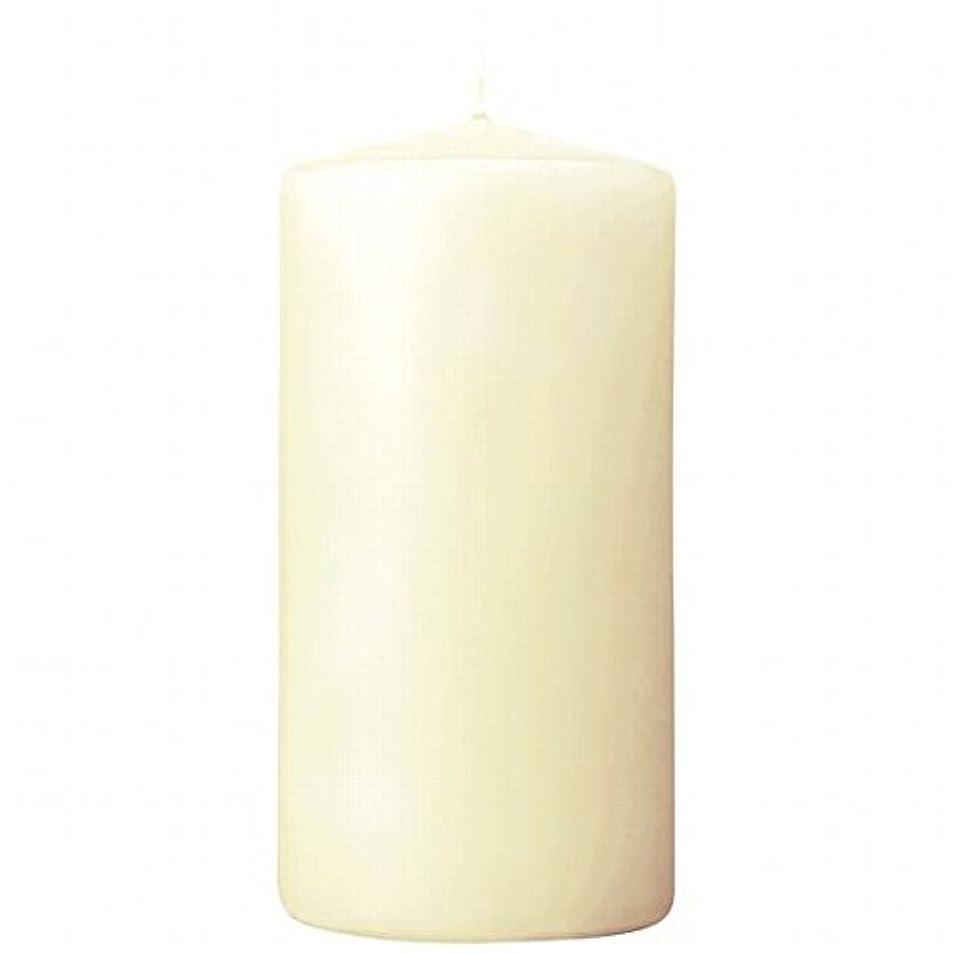 ヤギ回復するメールを書くカメヤマキャンドル(kameyama candle) 3×6ベルトップピラーキャンドル 「 アイボリー 」