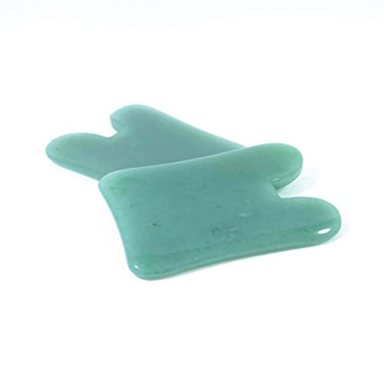橋脚海港世論調査Natural Portable Size Gua Sha Facial Treatment Massage Tool Chinese Natural Jade Scraping Tools Massage Healing...