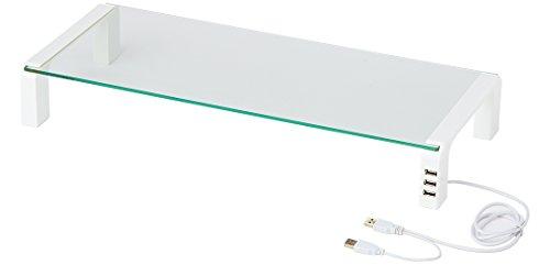 キングジム 机上台 デスクボード USBハブ付 白 THDBU-20W...