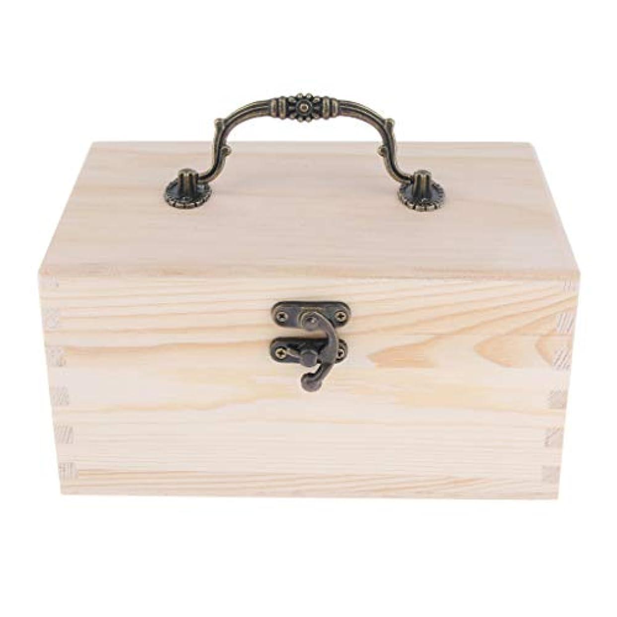 レンチ文芸俳句家庭 サロン オイルケース アロマケース 精油瓶 収納ボックス 天然木 15本用 20ミリボトル