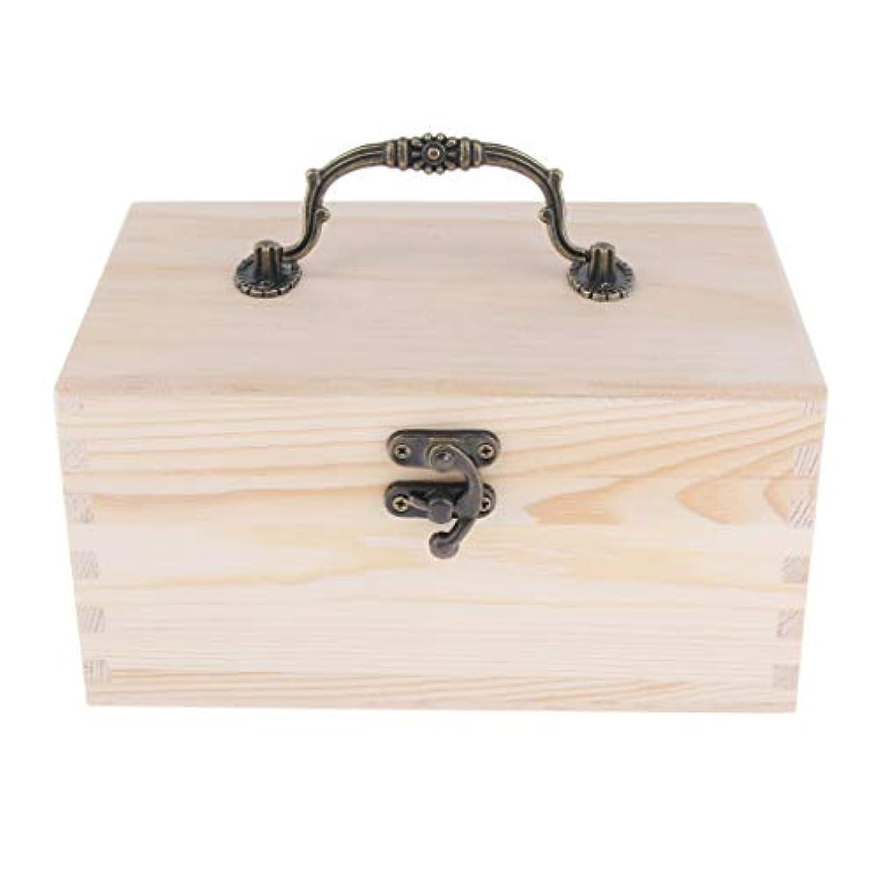スペインがっかりする薬剤師エッセンシャルオイルケース ディスプレイホルダー 15仕切り キャリーケース 収納ボックス