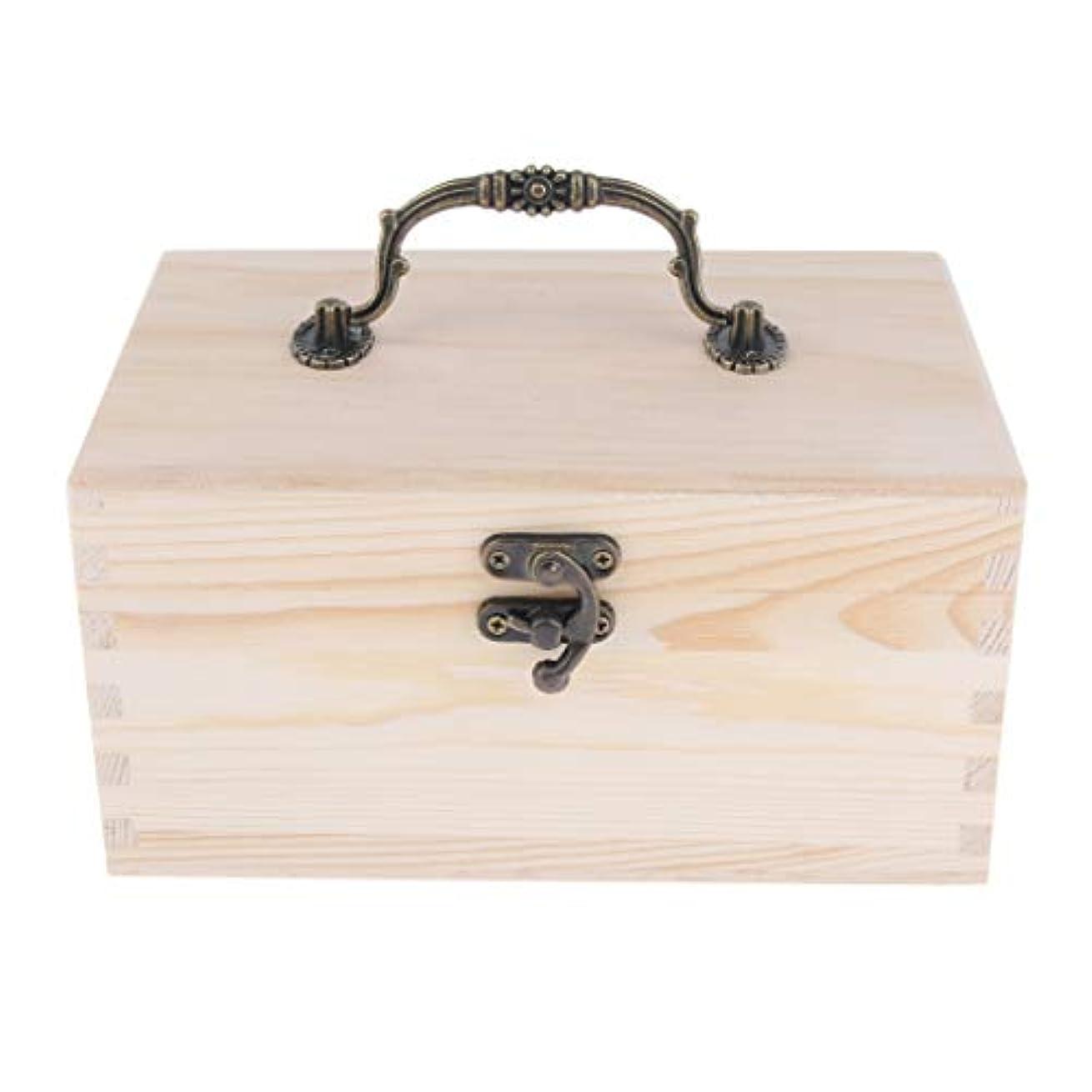感性ポンプ放置家庭 サロン オイルケース アロマケース 精油瓶 収納ボックス 天然木 15本用 20ミリボトル