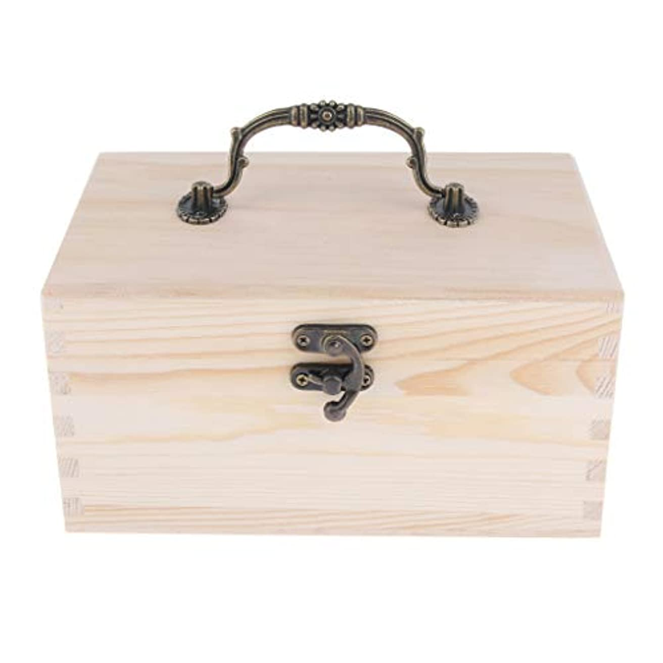 寝具ジレンマジレンマエッセンシャルオイルケース ディスプレイホルダー 15仕切り キャリーケース 収納ボックス