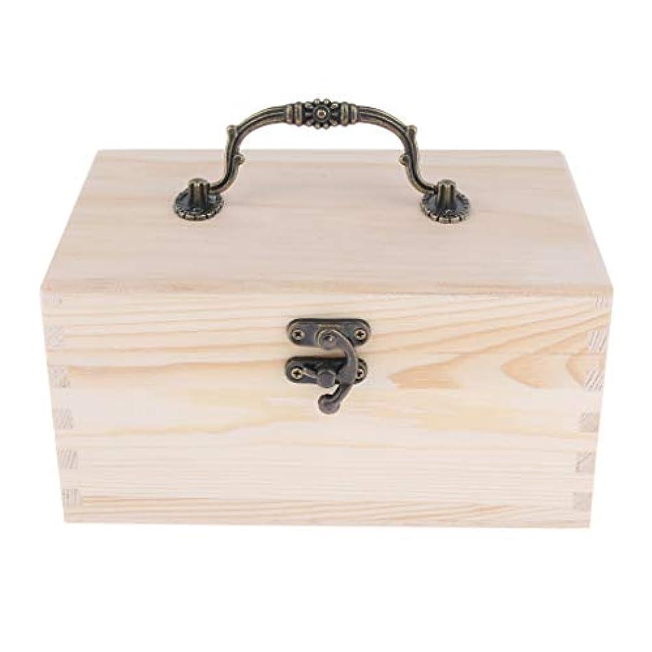知事ネコピグマリオン家庭 サロン オイルケース アロマケース 精油瓶 収納ボックス 天然木 15本用 20ミリボトル