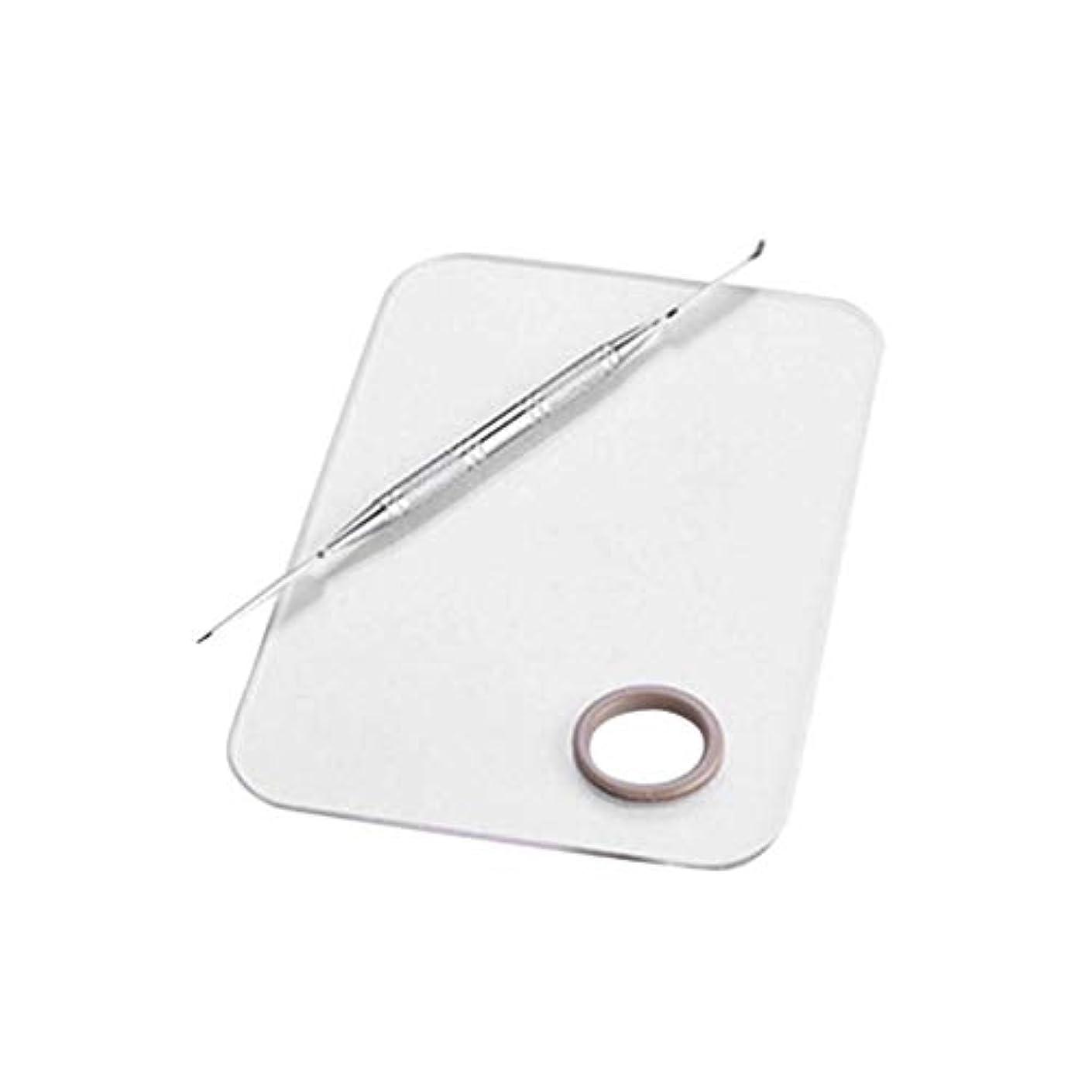 検閲弾性爆発物サロンマニキュアカラーパレットは、ツールのステンレス鋼板をメイクアップパレット化粧品をミキシングクリームファンデーションをメイク