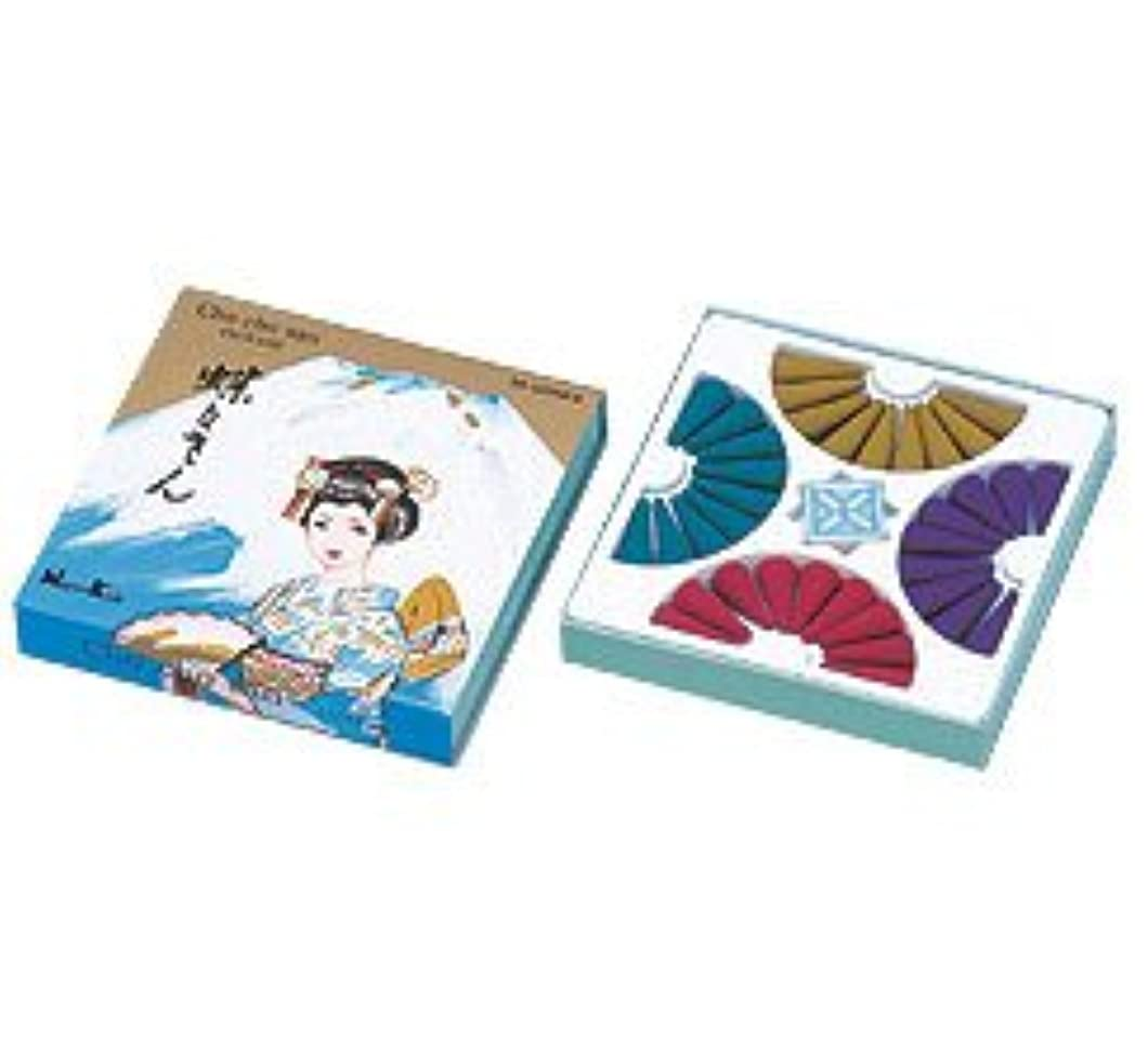 アクティビティ変更可能つかむ日本香堂 蝶々さんコーン 36個入 香立付
