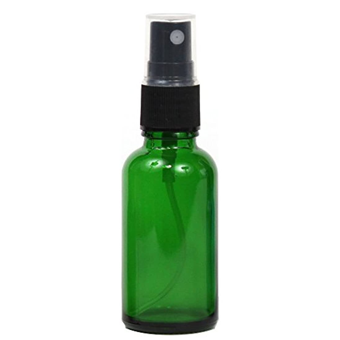 入場料理想的倫理的スプレーボトル 30mL ガラス遮光性グリーン 瓶 空容器