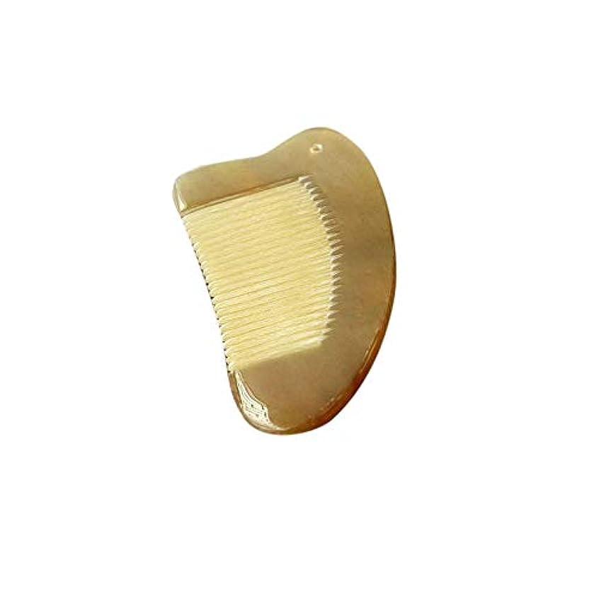 可聴静脈どきどきWASAIO ナチュラルバッファローホーンコーム-ハート型コーム12cmコーム男性女性ウェットドライカーリーストレートヘアブラシブラシ手作り (色 : Photo color)