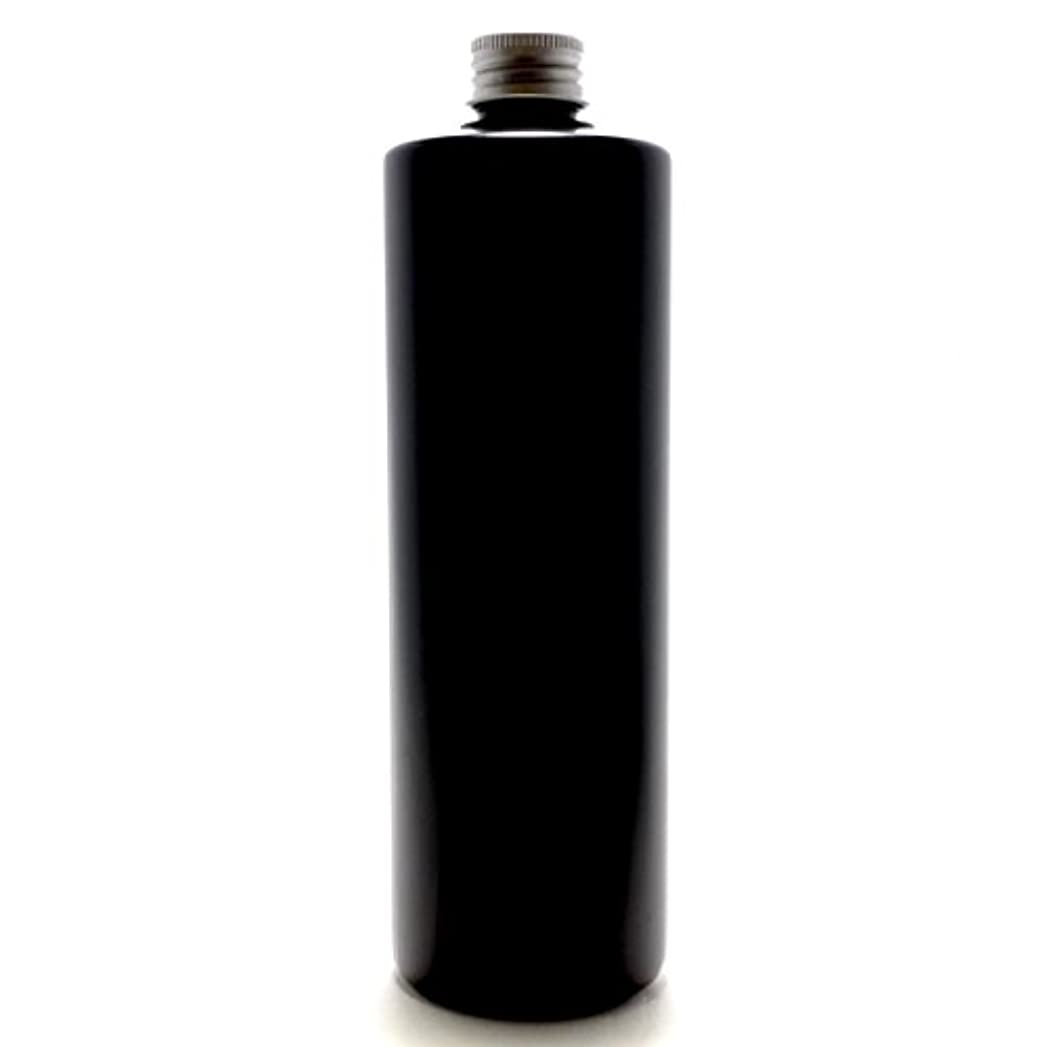 繊維専門知識日帰り旅行にプラスチック容器 500ml PE ストレートボトル [ ボトル: 遮光黒 / アルミキャップ ]