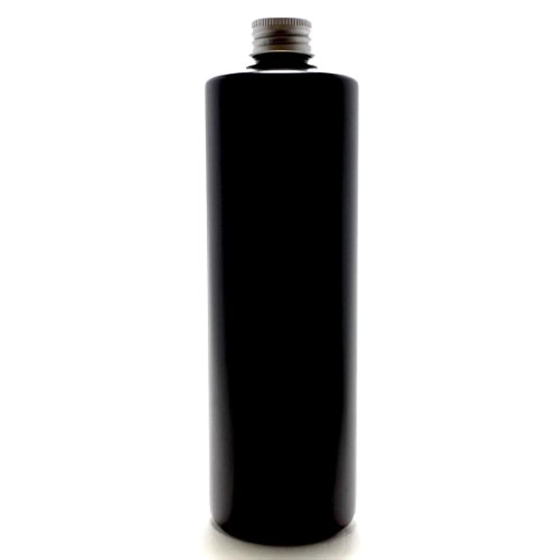 削除するピアース政権プラスチック容器 500ml PE ストレートボトル [ ボトル: 遮光黒 / アルミキャップ ]