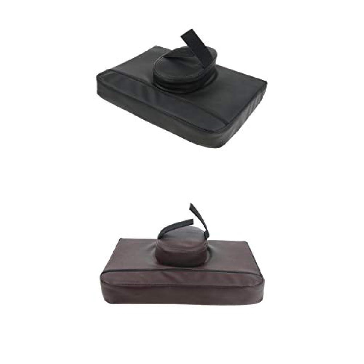 冊子ゲージ率直なマッサージクッション マッサージ枕 マッサージピロー スクエア マッサージテーブル用 通気性 2個入
